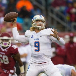Tulsa Golden Hurricane quarterback Dane Evans