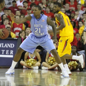 Deon Thompson of the North Carolina Tar Heels.