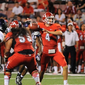 Derek Carr of the Fresno State Bulldogs