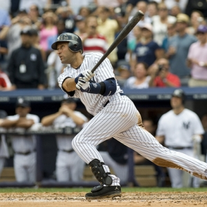 Derek Jeter of the New York Yankees hits No. 3,000