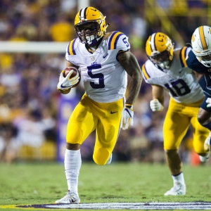 LSU Tigers running back Derrius Guice