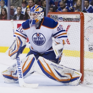 Goalie Devan Dubnyk of the Oilers