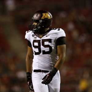 Minnesota Golden Gophers defensive lineman D.L. Wilhite