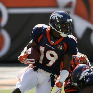 Eddie Royal of the Denver Broncos.