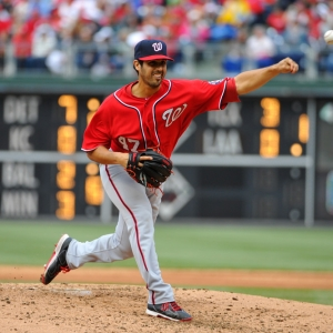 Washington Nationals starting pitcher Gio Gonzalez