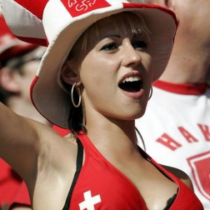 hot swiss soccer fan