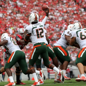 Miami Hurricanes quarterback Jacory Harris