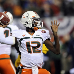 Jacory Harris, QB for the Miami Hurricanes.