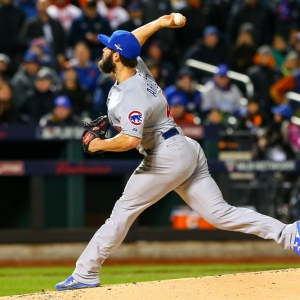 Chicago Cubs starting pitcher Jake Arrieta
