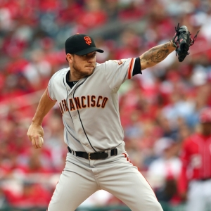San Francisco Giants starting pitcher Jake Peavy