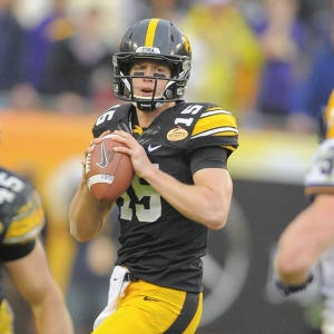 Iowa Hawkeyes quarterback Jake Rudock