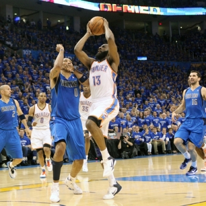 Oklahoma City Thunder guard James Harden
