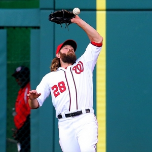 Right fielder Jayson Werth (28) of the Washington Nationals