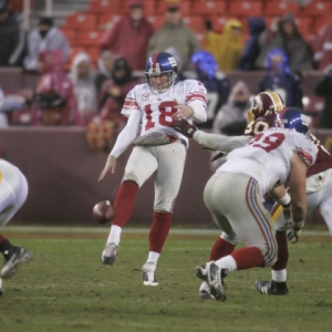 Jeff Feagles, punter for the New York Giants.
