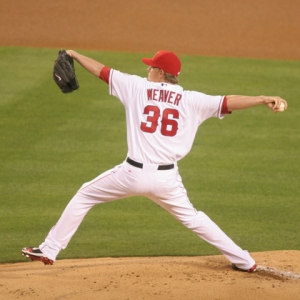 Jered Weaver of the Los Angeles Angels of Anaheim
