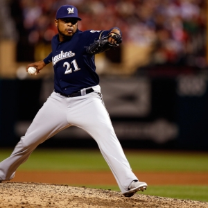 Milwaukee Brewers relief pitcher Jeremy Jeffress
