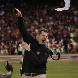 San Francisco head coach Jim Harbaugh
