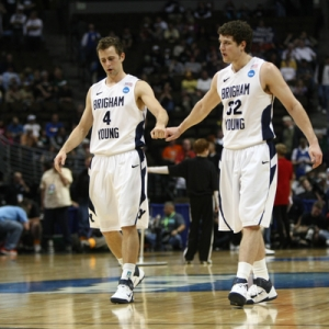 Guard Jimmer Fredette (32) of the BYU Cougars