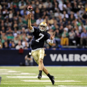 Former Notre Dame Fighting Irish Quarterback Jimmy Clausen