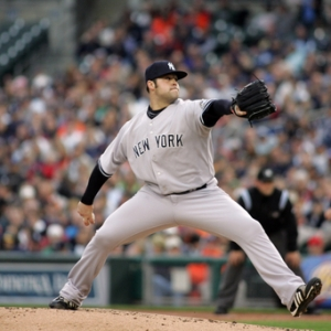 Joba Chamberlain, pitcher for the New York Yankees.