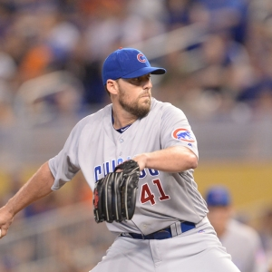 Chicago Cubs starting pitcher John Lackey