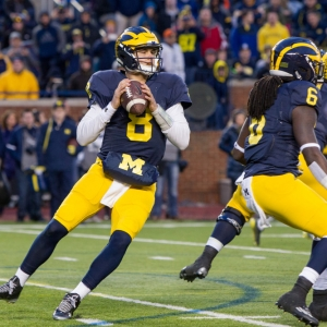 Michigan Wolverines quarterback John O'Korn