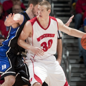 Wisconsin Badgers forward Jon Leuer.