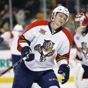 Jonathan Huberdeau of the Florida Panthers
