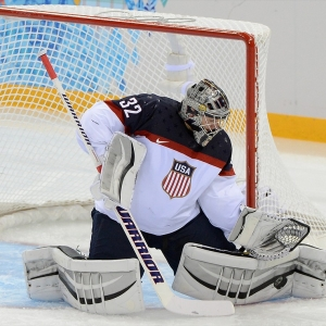 USA goalie Jonathan Quick