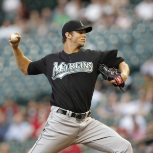 Florida Marlins starting pitcher Josh Johnson