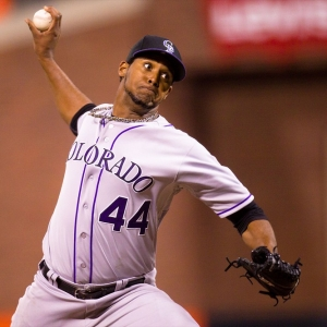 Colorado Rockies starting pitcher Juan Nicasio