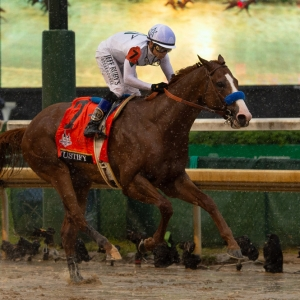 Justify in the Kentucky Derby