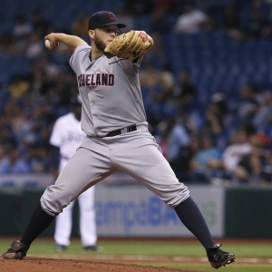 Indians pitcher Justin Masterson
