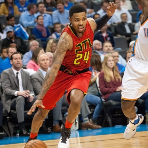 Kent Bazemore of the Atlanta Hawks