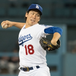 Los Angeles Dodgers Starting pitcher Kenta Maeda
