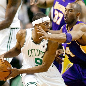Lakers against the Celtics