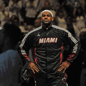 LeBron James of the Miami Heat