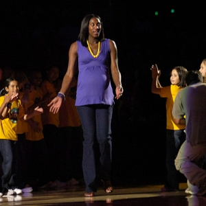 Lisa Leslie of the Los Angeles Sparks.