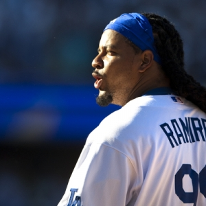 Left fielder Manny Ramirez of the Los Angeles Dodgers.