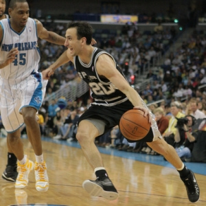 San Antonio Spurs guard Manu Ginobili (20).