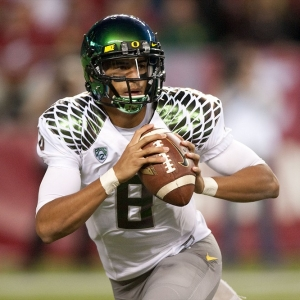 Oregon quarterback Marcus Mariota