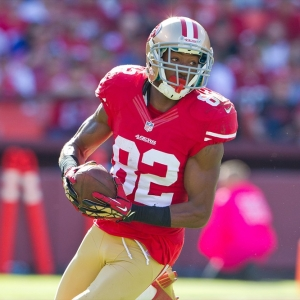 Wide receiver Mario Manningham of the San Francisco 49ers