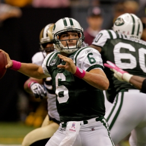 New York Jets quarterback Mark Sanchez.