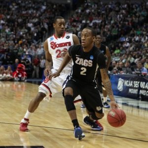 Guard Marquise Carter of the Gonzaga Bulldogs