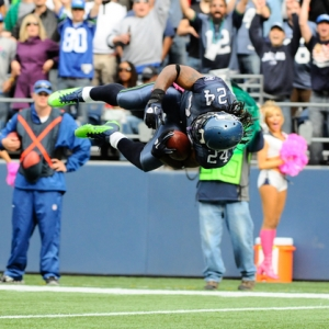 Seattle Seahawks' running back Marshawn Lynch