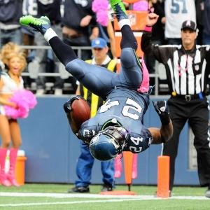 Seattle Seahawks' running back Marshawn Lynch
