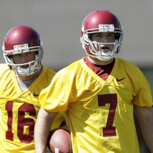 USC Quarterback No. 7 Matt Barkley.