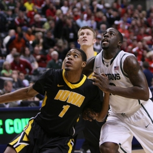 Iowa Hawkeyes forward Melsahn Basabe