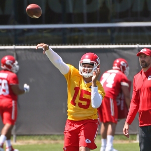 Quarterback Patrick Mahomes of the Kansas City Chiefs
