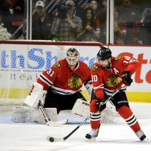 Patrick Sharp of the Chicago Blackhawks